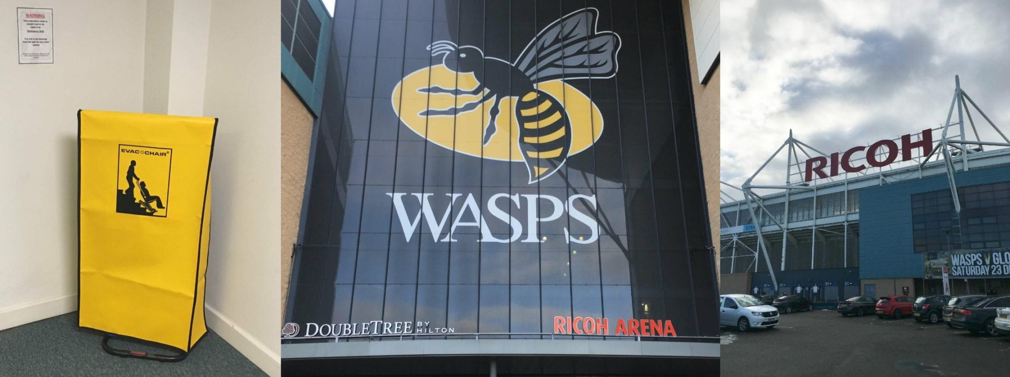 Wasps Rugby Club updates their emergency evacuation equipment