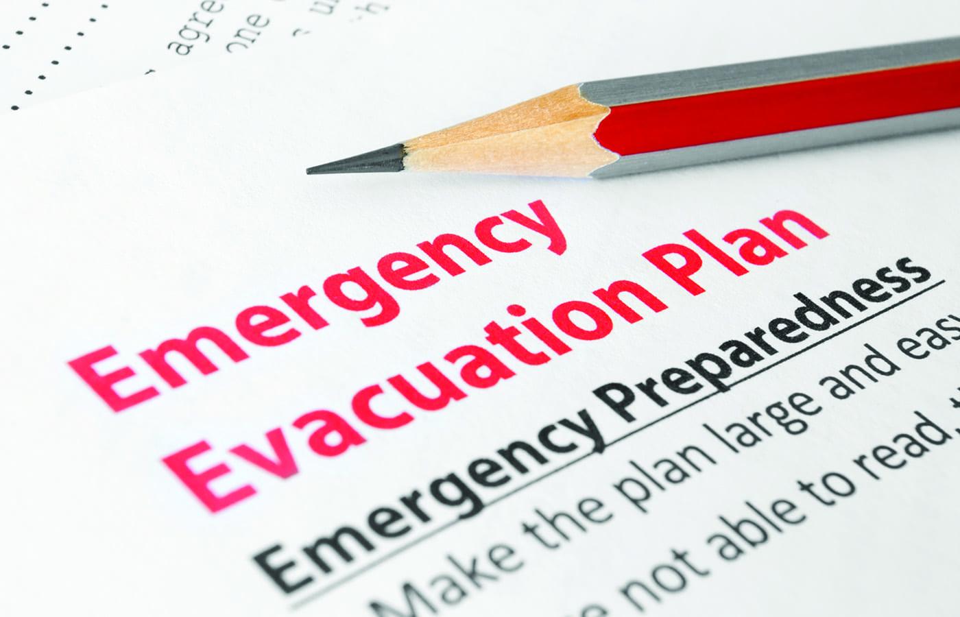 evacuation chair training checklist